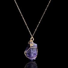 Ogrlica Natural Quartz (Purple)