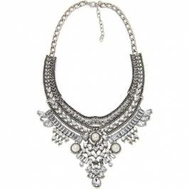 Ogrlica Pearl & Crystal (Silver)