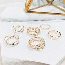 Prstenje Set Zinnia (Gold)