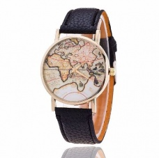 Sat WORLD MAP Black