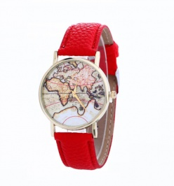 Sat World Map (Red)